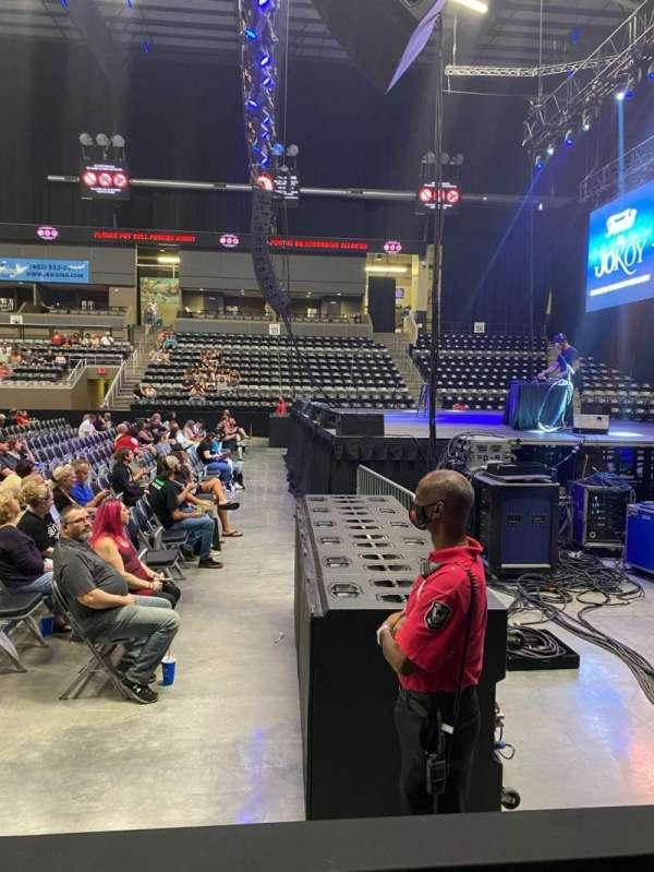 Ralston Arena, section: 113, row: B, seat: 16