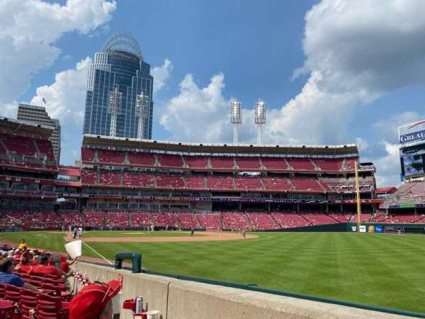 Great American Ball Park, section: 137, row: O, seat: 3