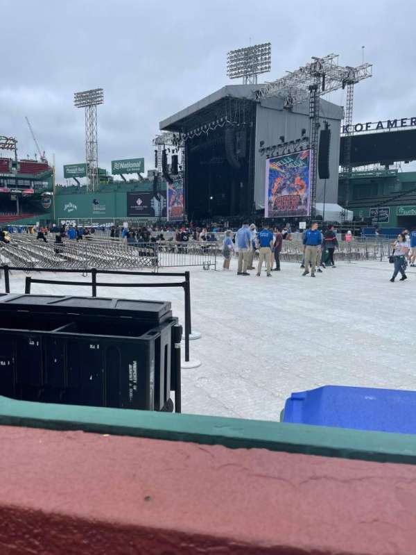Fenway Park, section: Right Field Box 4, row: F, seat: 12