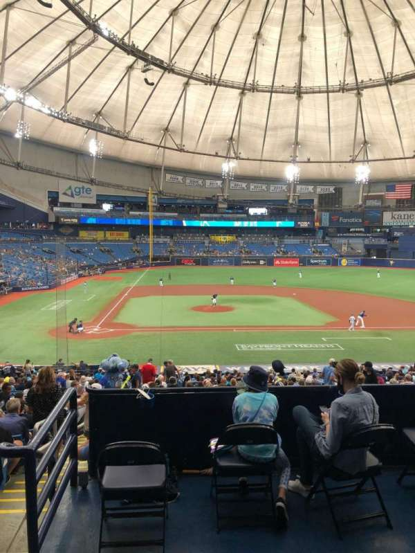 Tropicana Field, section: Rays Club 112, row: PP, seat: 1