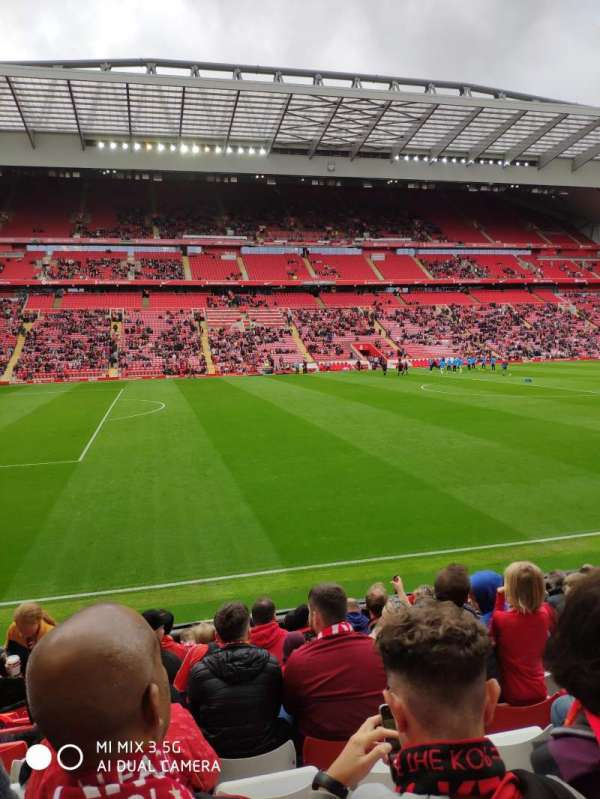 Anfield, section: KM, row: 14, seat: 193