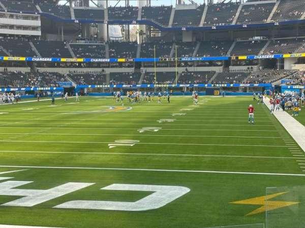 SoFi Stadium, section: 123, row: 4, seat: 3