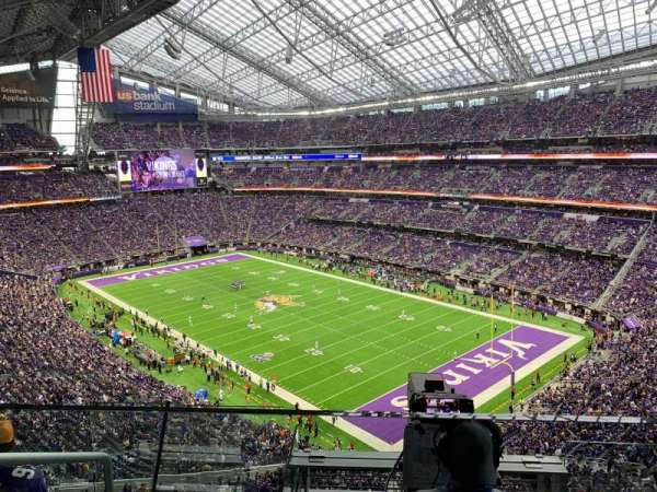 U.S. Bank Stadium, section: 304, row: D, seat: 16-17