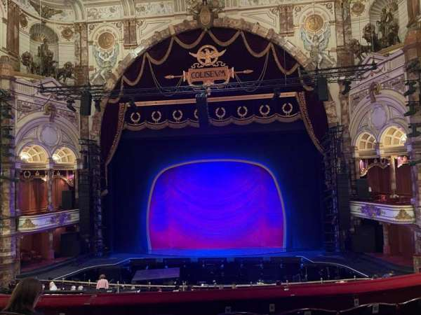 London Coliseum, section: Dress Circle, row: D, seat: 21