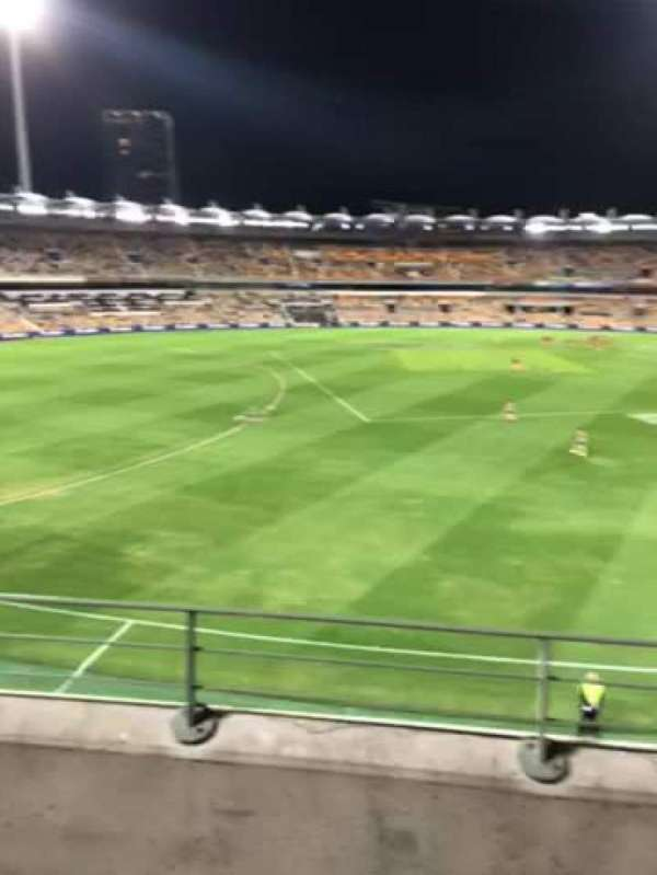 The Gabba, section: 425, row: CC, seat: 106