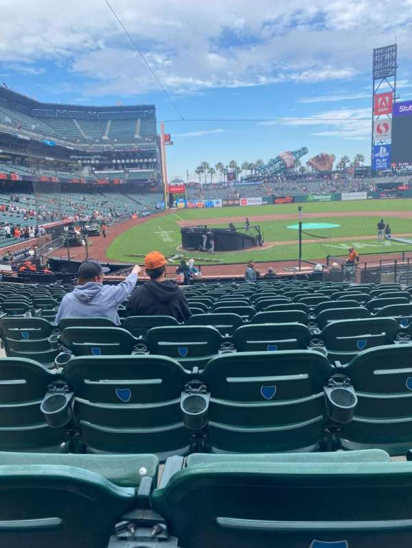 Oracle Park, section: 112, row: P, seat: 9,10