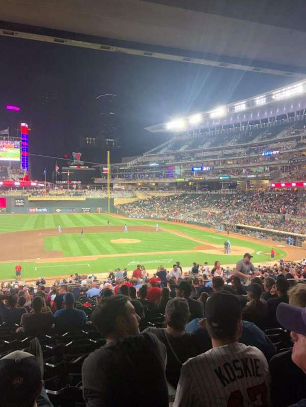 Target Field, section: 120, row: 22, seat: 12