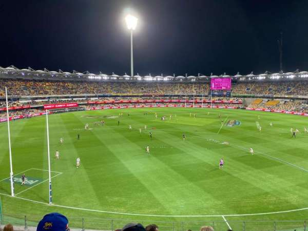 The Gabba, section: 410, row: JJ, seat: 17