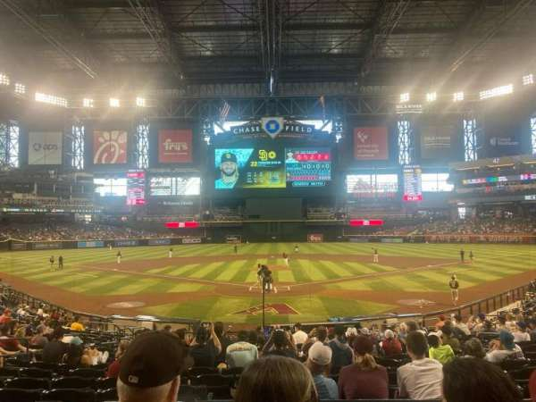 Chase Field, section: 122, row: 23, seat: 7