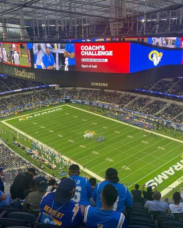 SoFi Stadium, section: 522, row: 12, seat: 10