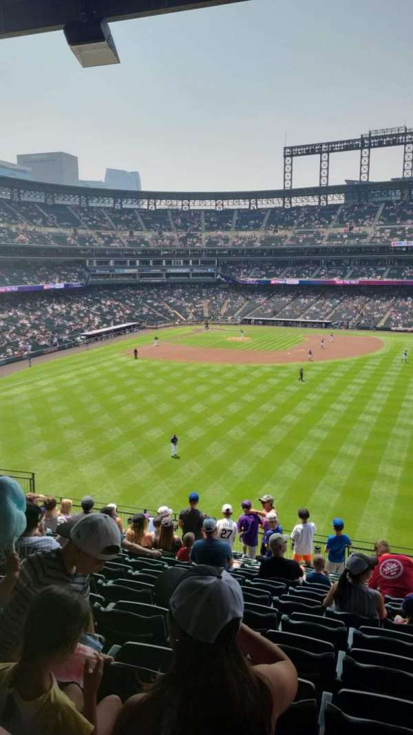 Coors Field, section: 204, row: 12, seat: 7