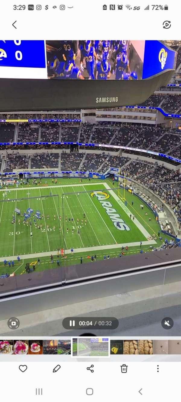 SoFi Stadium, section: 446, row: 2, seat: 4