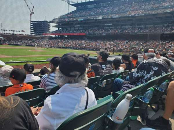 Oracle Park, section: 124, row: D, seat: 8
