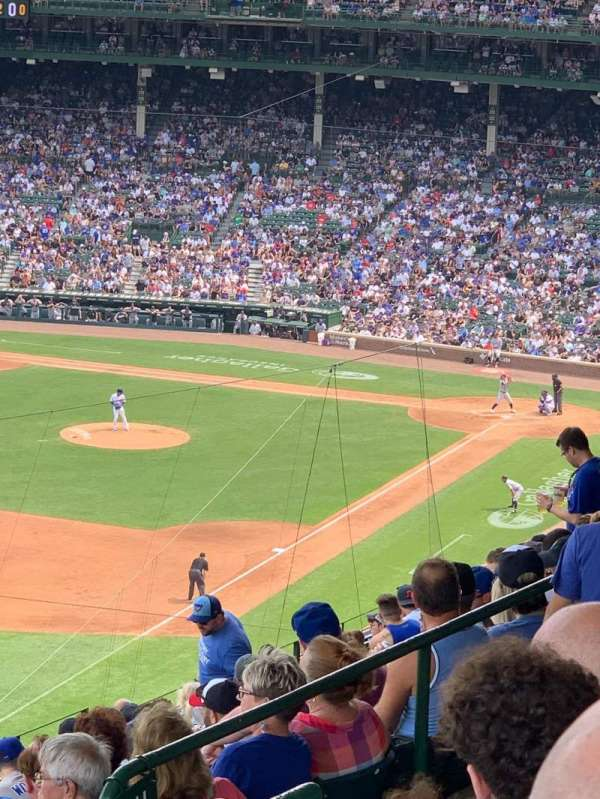 Wrigley Field, section: 403L, row: 3, seat: 1
