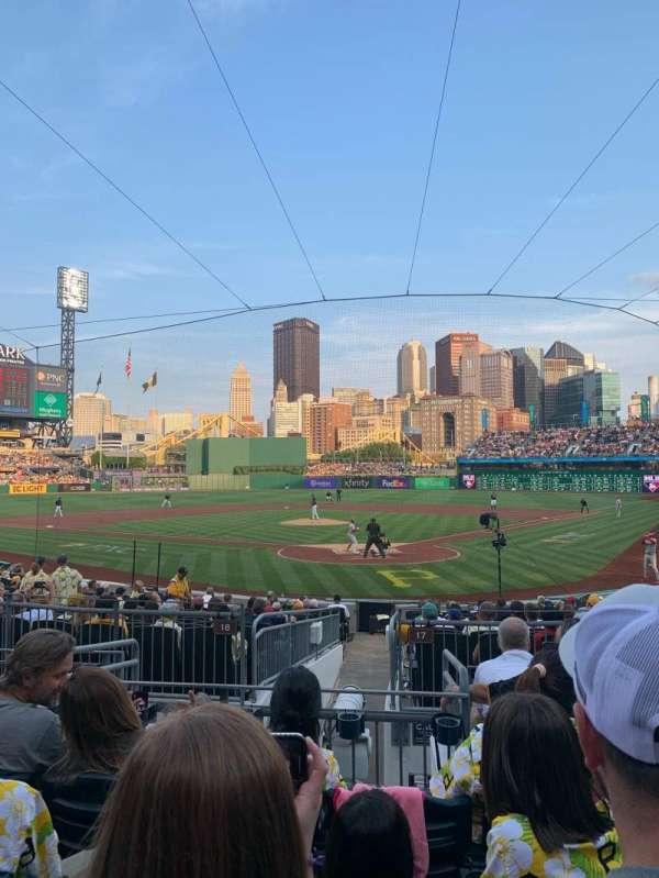 PNC Park, section: 117, row: F, seat: 10