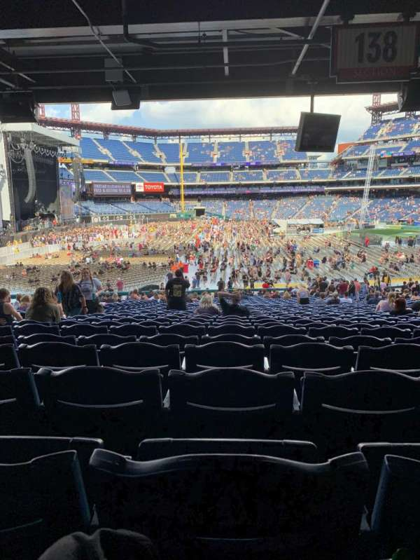 Citizens Bank Park, section: 138, row: 40, seat: 13