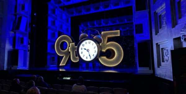 Savoy Theatre, section: Stalls, row: F, seat: 1