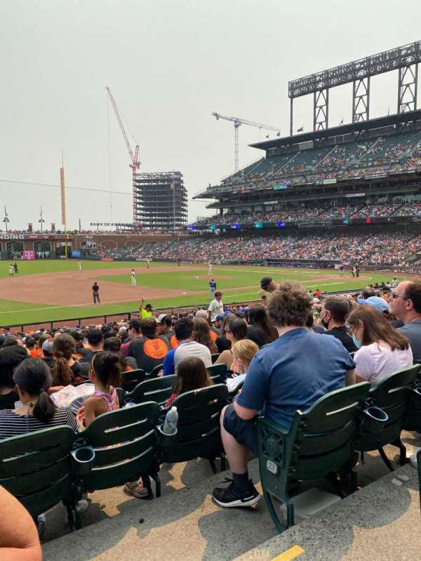 Oracle Park, section: 126, row: 25, seat: 16