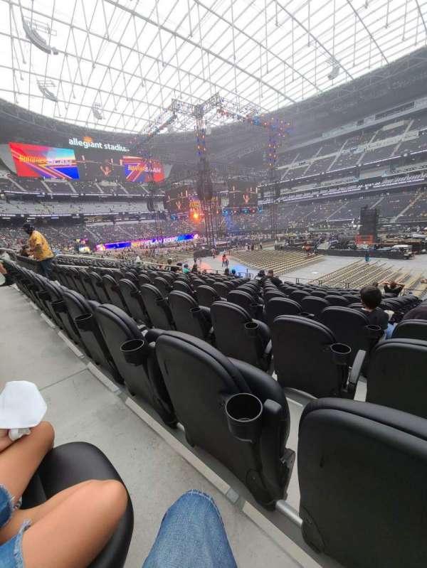 Allegiant Stadium, section: C109, row: 13, seat: 1