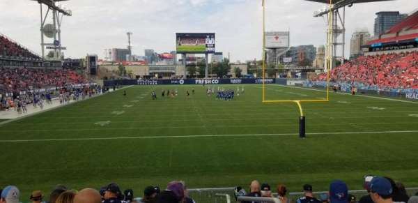 BMO Field, section: 116, row: 14, seat: 1