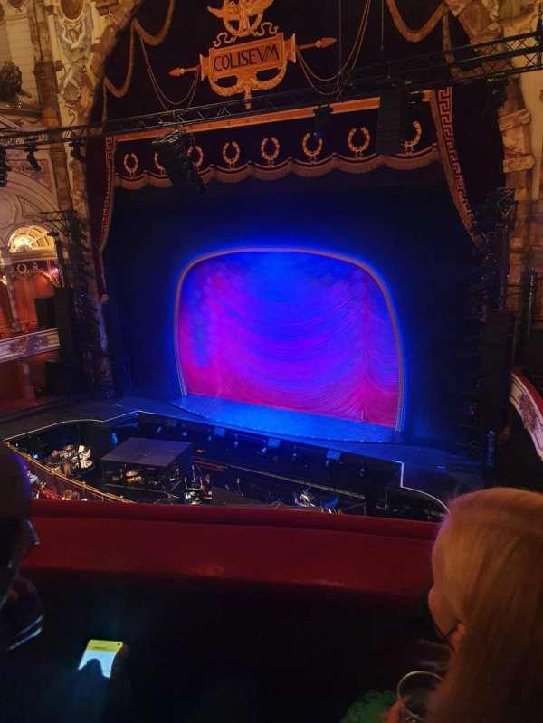 London Coliseum, section: Upper Circle, row: B, seat: 4