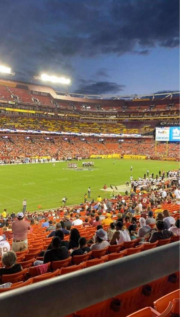 FedEx Field, section: 226, row: 1, seat: 15