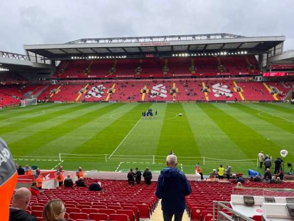anfield, section: L6, row: 22, seat: 161