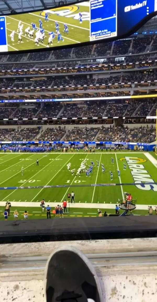 SoFi Stadium, section: C223, row: 1, seat: 10