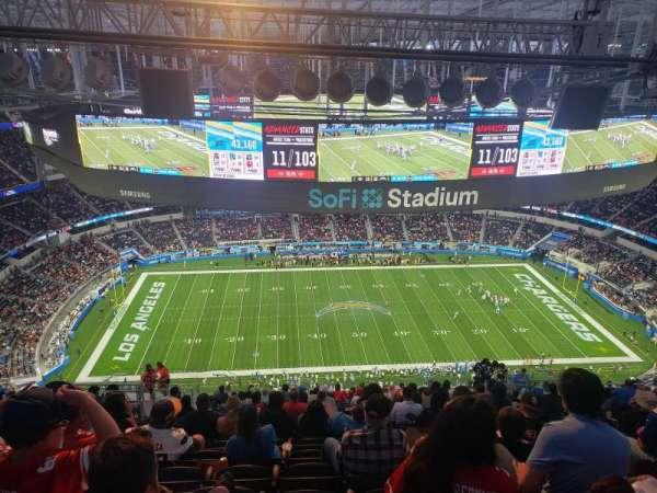 sofi stadium, section: 513, row: 22, seat: 17