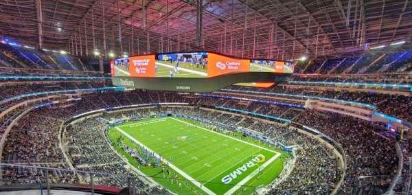 SoFi Stadium, section: 452, row: 4, seat: 9