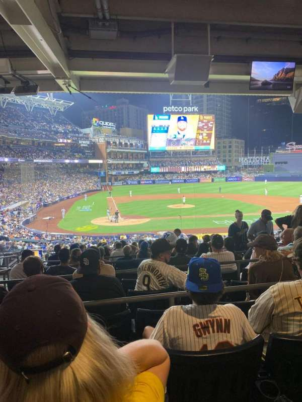 PETCO Park, section: PCK, row: 13, seat: 4