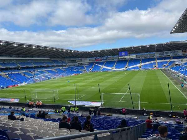 Cardiff City Stadium, section: 122, row: BB, seat: 132