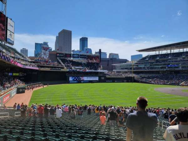 Target Field, section: 126, row: 34, seat: 7
