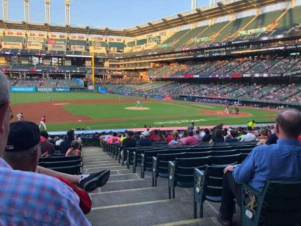 Progressive Field, section: 164, row: DD, seat: 1