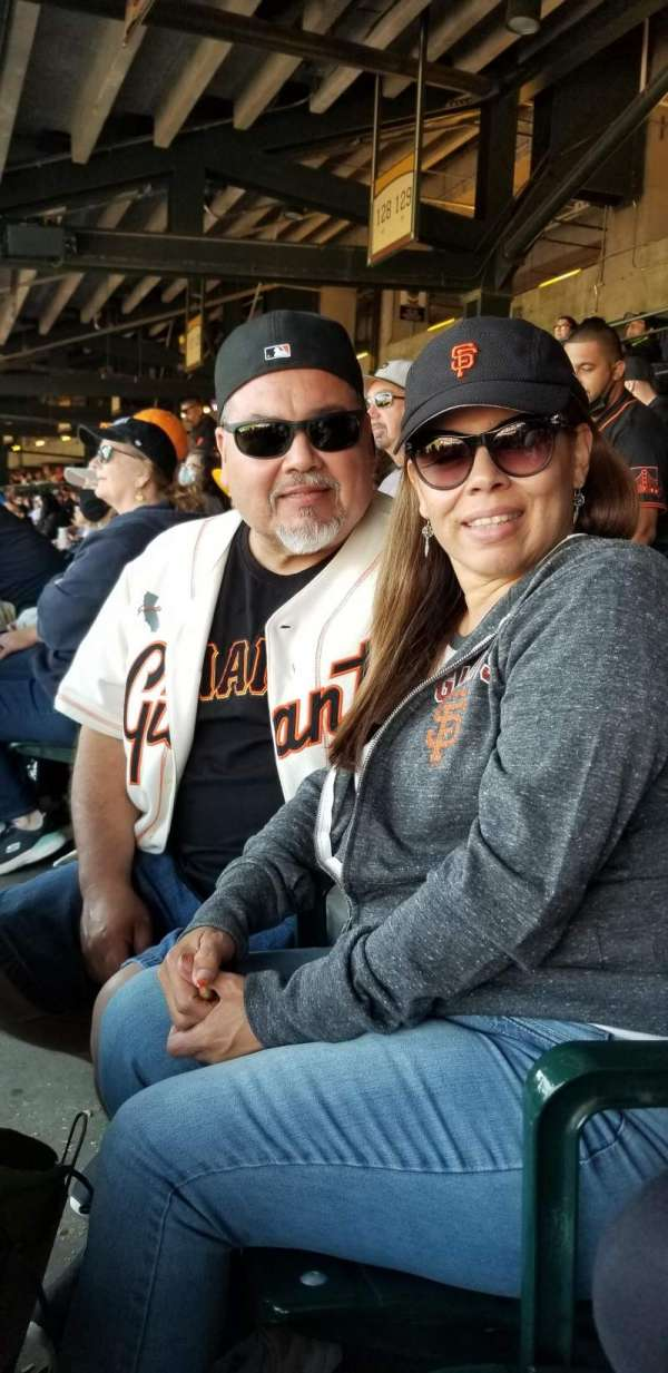 Oracle Park, section: 101, row: 1, seat: 3