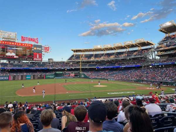 Nationals Park, section: 115, row: CC, seat: 8