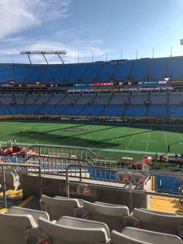 Bank of America Stadium, section: 313, row: 10, seat: 18
