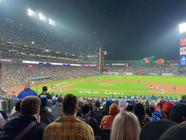 Oracle Park, section: 109, row: 28, seat: 4
