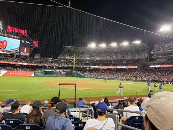 Nationals Park, section: 113, row: M, seat: 3
