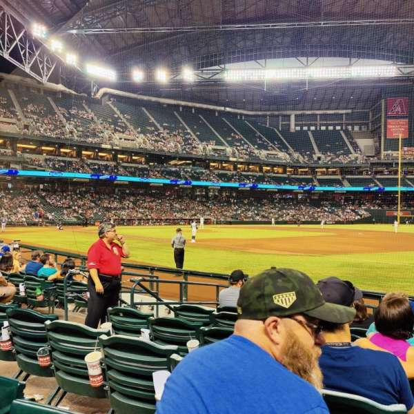 Chase Field, section: B, row: G, seat: 9