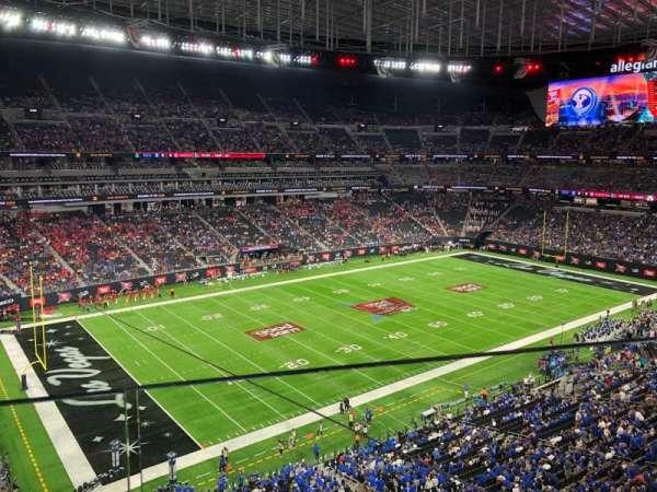 Allegiant Stadium, section: 343, row: 1, seat: 17