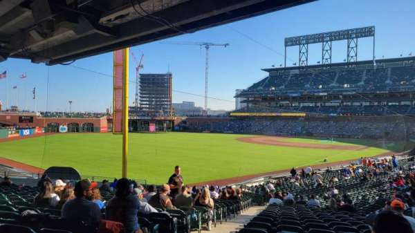 Oracle Park, section: LB134, row: 34, seat: 12