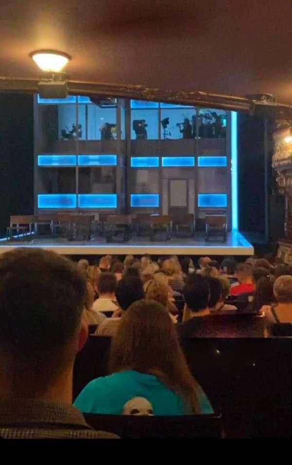 Apollo Theatre, section: Stalls, row: X, seat: 8