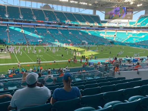 Hard Rock Stadium, section: 250, row: 8, seat: 12