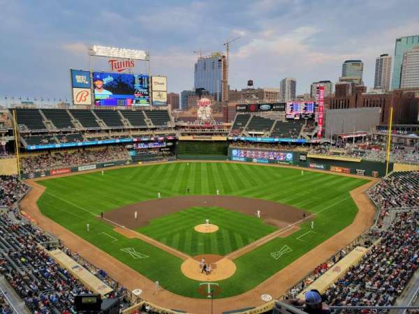 Target Field, section: 215, row: 5, seat: 9