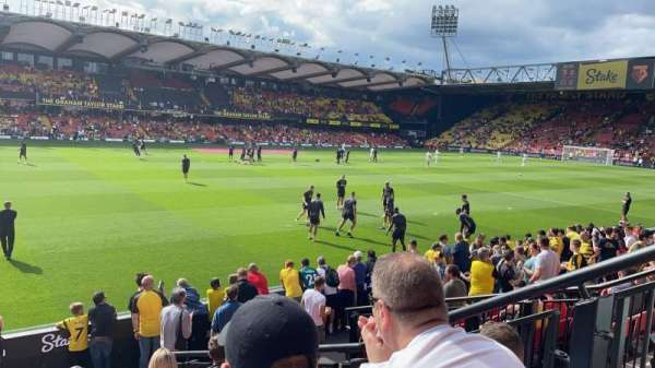 Vicarage Road, section: SEJ2, row: D, seat: 40