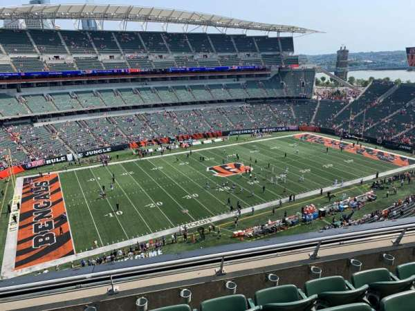 Paul Brown Stadium, section: 314, row: 4, seat: 9