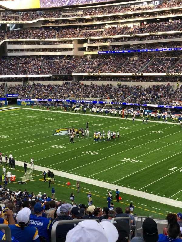 SoFi Stadium, section: 225, row: 9, seat: 22