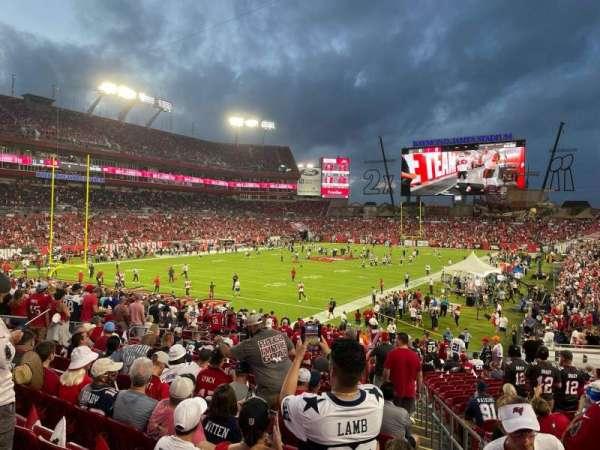 Raymond James Stadium, section: 126, row: CC, seat: 21