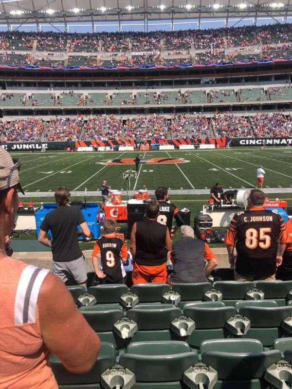 Paul Brown Stadium, section: 110, row: 7, seat: 10